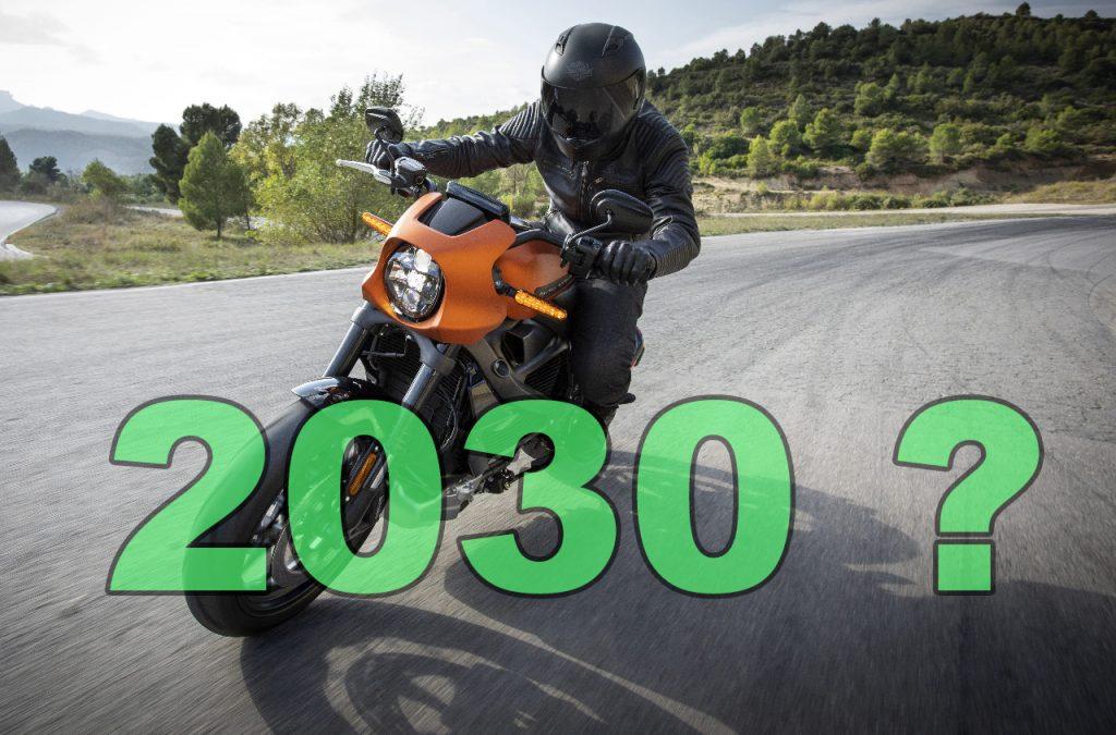 2030 sale of petrol motorcycles