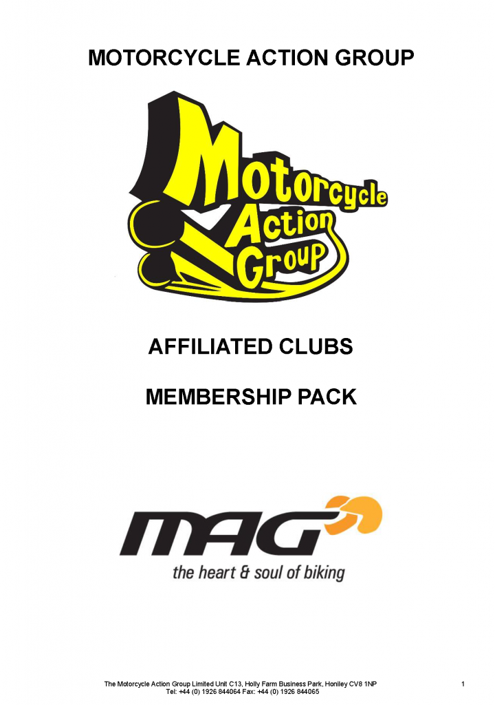 MAG club affiliation scheme