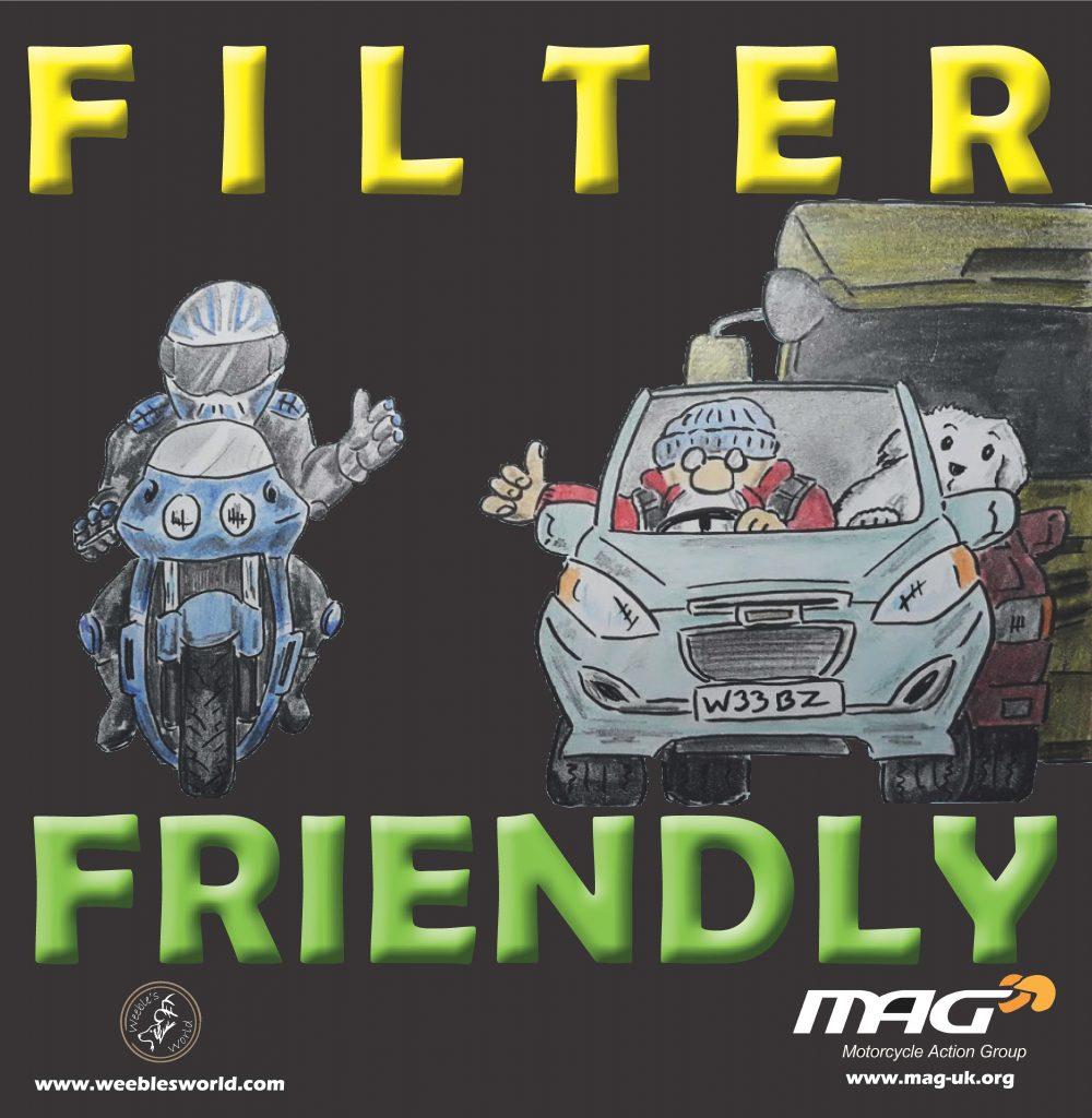 Filter Friendly Bike Sticker